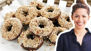 Molly Yeh Makes Chocolate Donuts with Coffee Glaze | Food Network