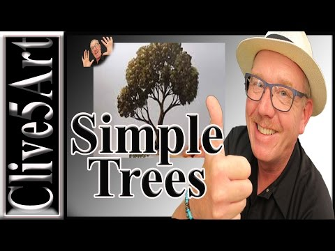 HOW To ,Paint A Tree, acrylic painting