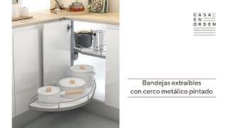 Tutorial de montaje: Bandejas extraíbles con cerco metálico pintado para mueble esquinero de cocina