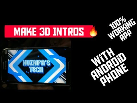 How to make 3d intros with android phone||fort intro maker tutorial
