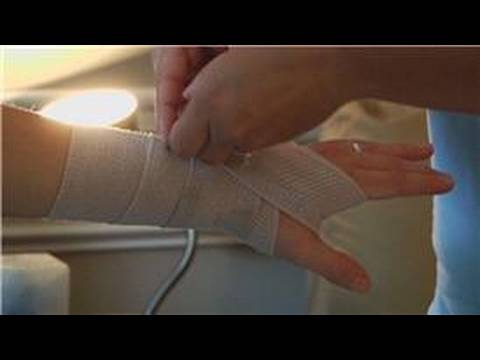 Wrapping & Taping Injuries : How to Wrap a Wrist With an Ace Bandage