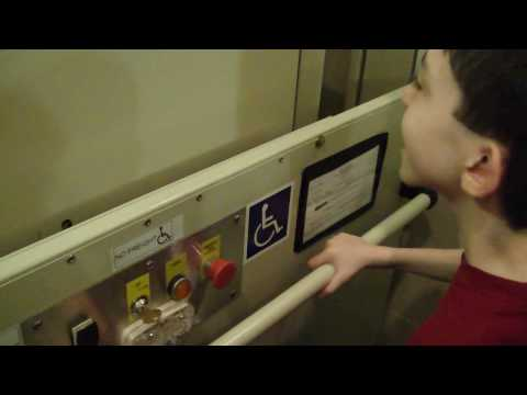 Savaria Concord screw drive wheelchair lift @ Sheraton Hotel Roanoke VA w/ tjelevatorfan