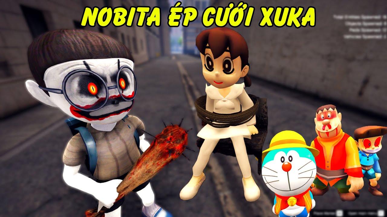 GTA 5 - Nobita mặt hề ghen tuông ép Xuka đám cưới và cái kết | GHTG