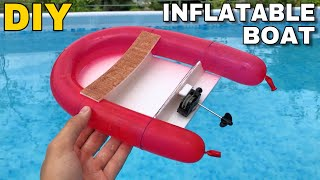AMAZING AIR BALLOON BOAT - How to Make an inflatable Boat at Home