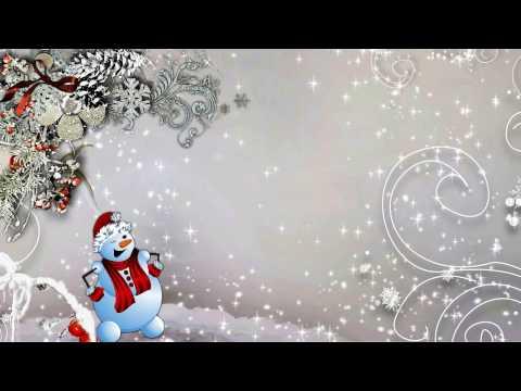 Футаж детский Весёлый снеговичок