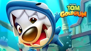 Talking Tom Gold Run - New Character Baby Shark Hank Fight the Raccoons in UNDERSEA SIDE WORLD