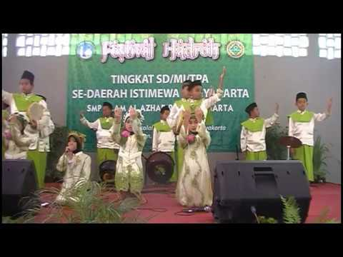 (JUARA 1 & VOC TERBAIK) Hadroh MIN 2 SLEMAN | Festival Hadroh AL-AZHAR Yogyakarta 2017