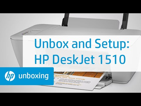 Unboxing and Setting Up the HP Deskjet 1510 All-in-One Printer