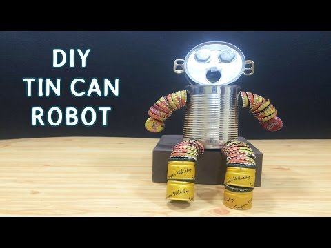 DIY Tin can Robot Toys for kids #8 | Crafts ideas