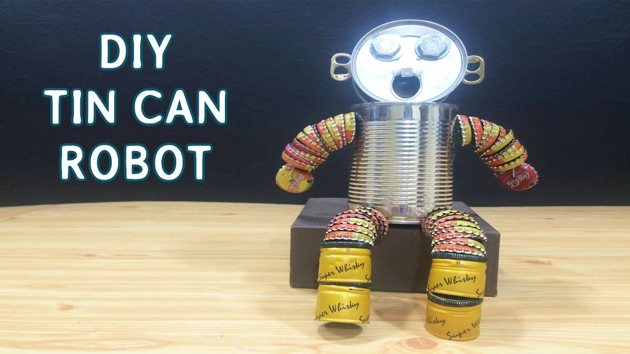 Diy Tin Can Robot Toys For Kids 8 Crafts Ideas Youtube