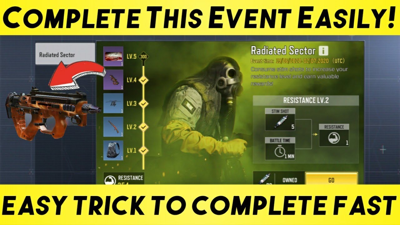 [EASY TRICK] COMPLETE  RADIATED SECTOR ☢️ Event Fast in 2 Days! Call of Duty Mobile Tips and Tricks