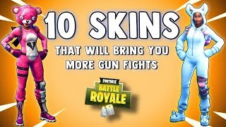 TOP 10 SKINS IN FORTNITE THAT WILL MAKE YOU A BETTER PLAYER (or make you die) Fortnite Battle Royale
