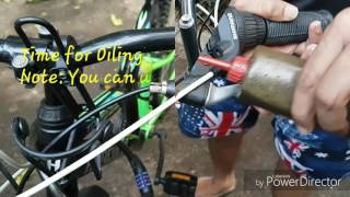 How to Clean wash and oil your bicycle