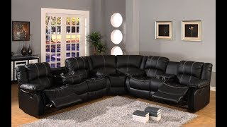 Leather Sectional Reclining Sofa