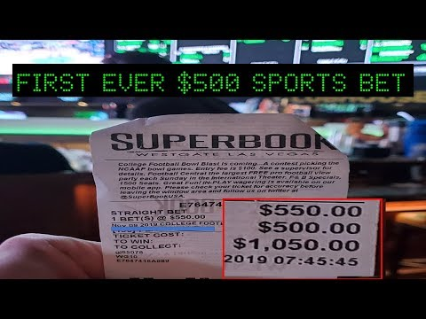 Placing My FIRST EVER $500 SPORTS BET On A SINGLE GAME! Nov 9 2019 Las Vegas Sports Betting Vlog