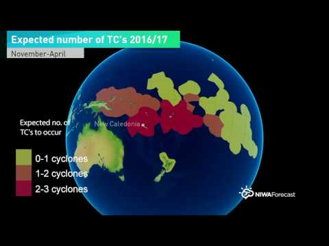 South Pacific Tropical Cyclone Outlook Nov 2016–Apr 2017
