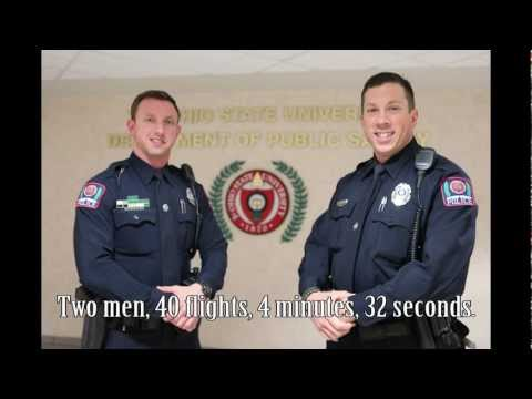 Ohio State police officers scale 40 flights for charity