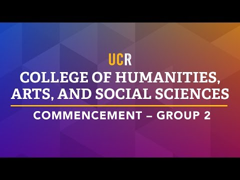 UCR College of Humanities, Arts, and Social Sciences Commencement - Group 2