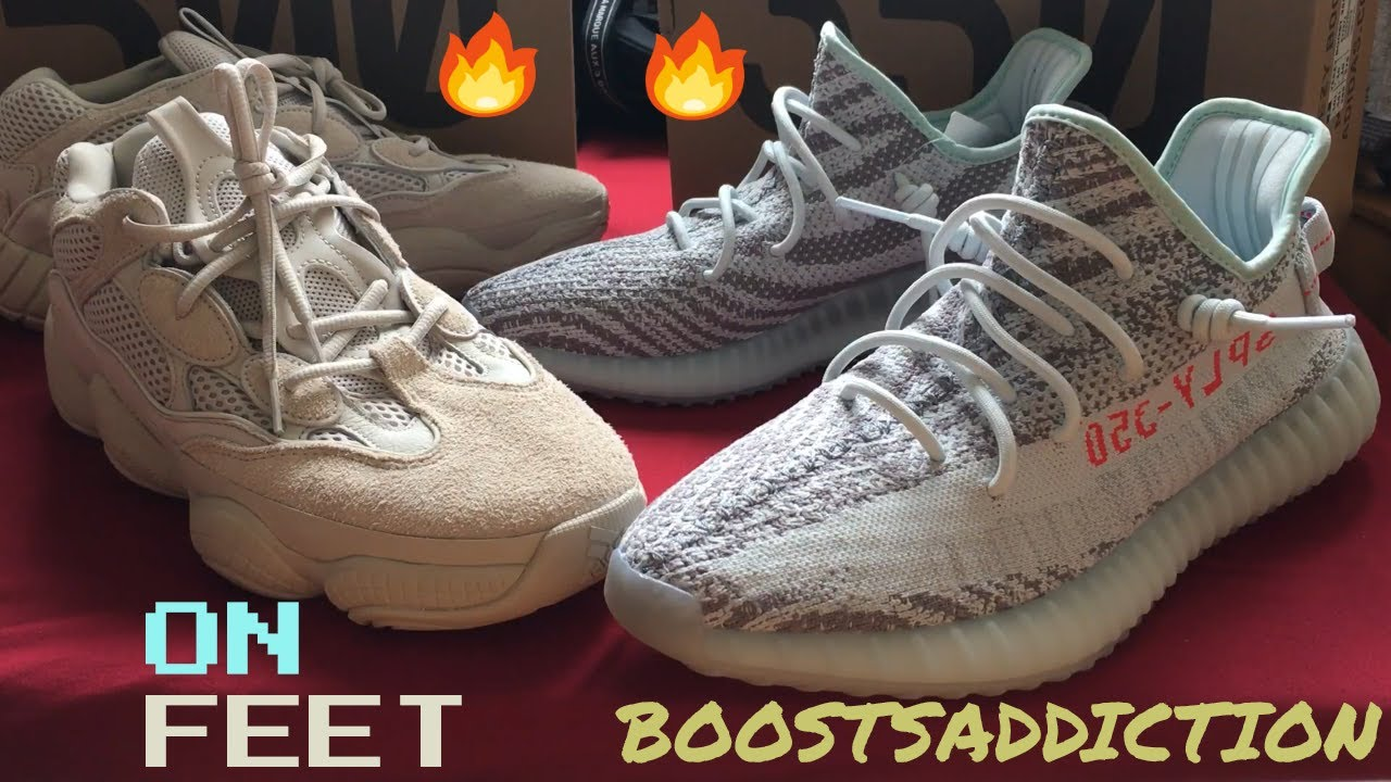 watch d5378 b2171 On feet: Adidas Yeezy 500 Blush vs Yeezy 350 v2 Blue Tint