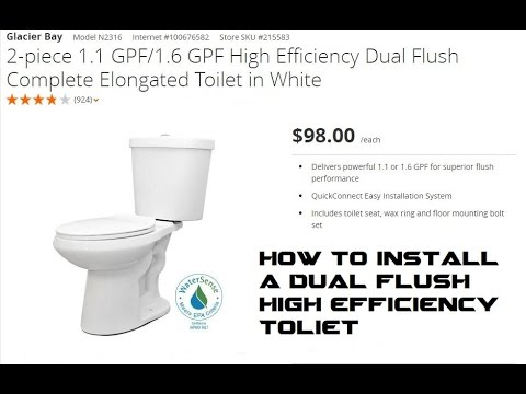 how to install a dual flush high efficiency toilet