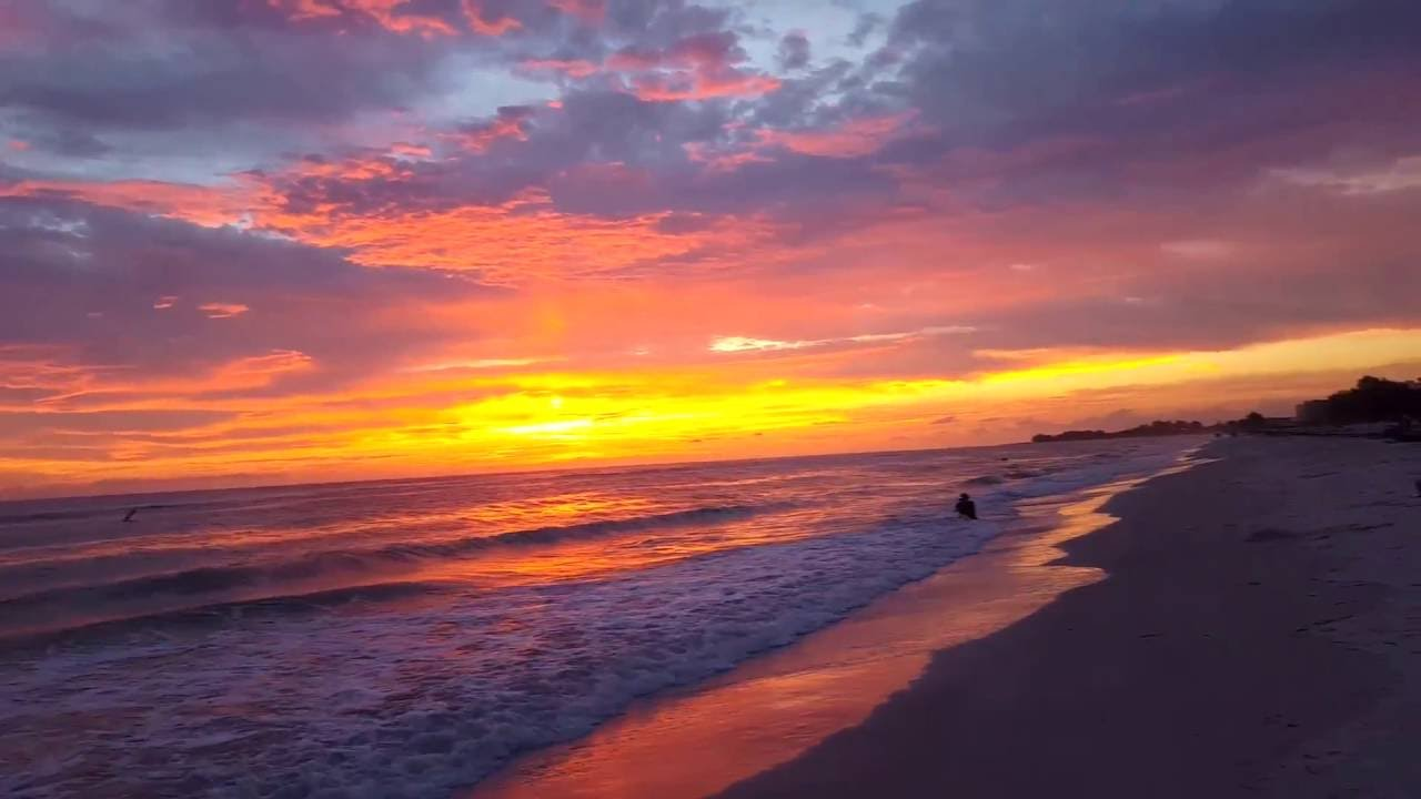 Sunset From Anna Maria Island At The Manatee Public Beach