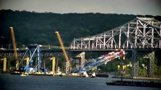 Tappan Zee Bridge Project9 Super Crane Under Bridge - M Sallinger 10-08-2014