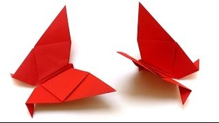 Origami Tiere falten - #01 Schmetterling