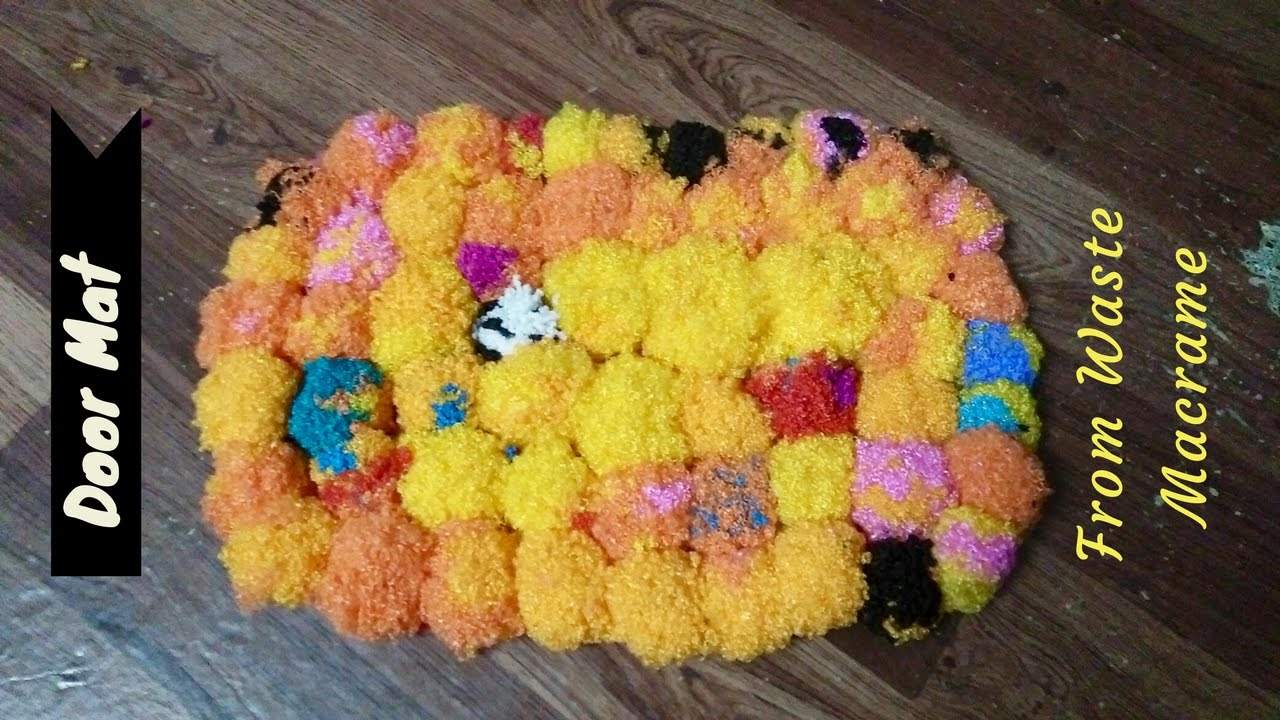 How to make door mat from waste macrame make best out of for West out of best making ideas