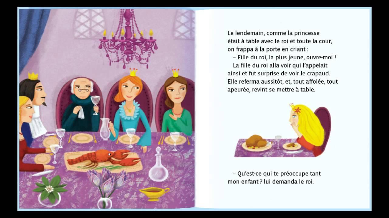 la princesse et le crapaud conte pour enfants dok o tv youtube. Black Bedroom Furniture Sets. Home Design Ideas