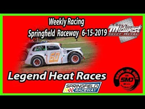 S03-E297 Legend Heat Races Springfield Raceway 6-15-2019 #DirtTrackRacing