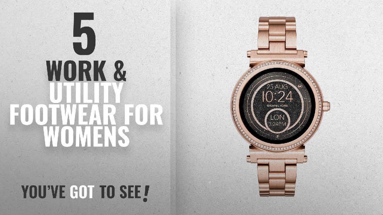041ef6387cef Top 10 Work   Utility Footwear For Womens  2018   Michael Kors Women s  Smartwatch Sofie MKT5022. Amazon UK ...