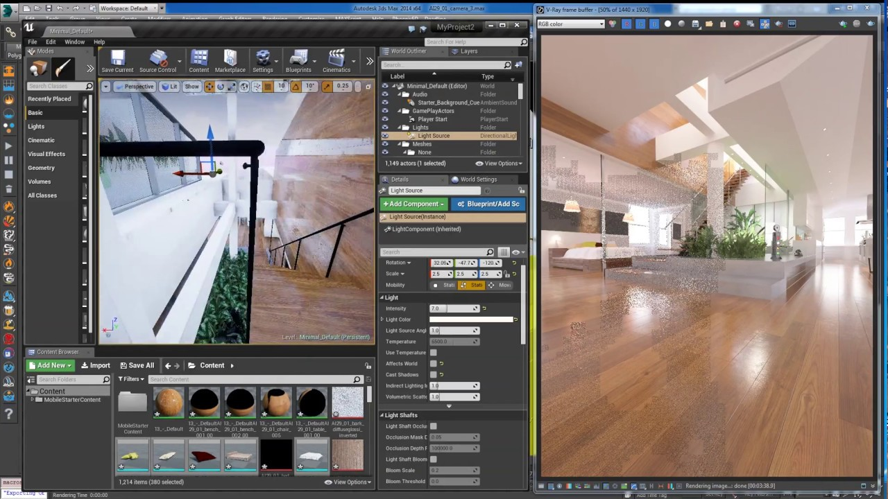 Vray 3ds max to unreal engine automatic interior export version v36 youtube - Materiale specchio 3ds max ...