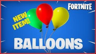 FORTNITE : Battle Royale - NEW Balloons ITEM 2018 (Switch. PC, PS4 & XB1) HD