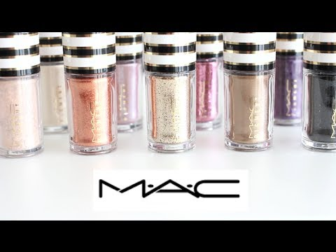 MAC Pigment & Glitter Swatches 10 shades