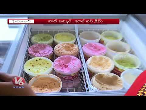 Summer Special   Hyderabad People Show Interest On Organic And Natural Ice Creams   V6 News