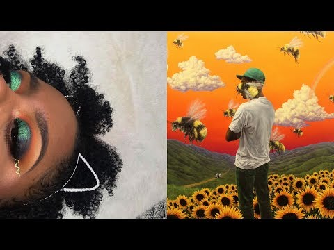 "Tyler The Creator ""Flower Boy"" Inspired Album Cover Makeup Tutorial"