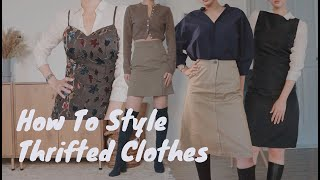 How to style thrifted clothes …