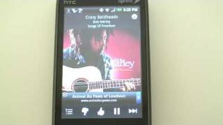 Pandora App for Android Cell Phones -- Demo