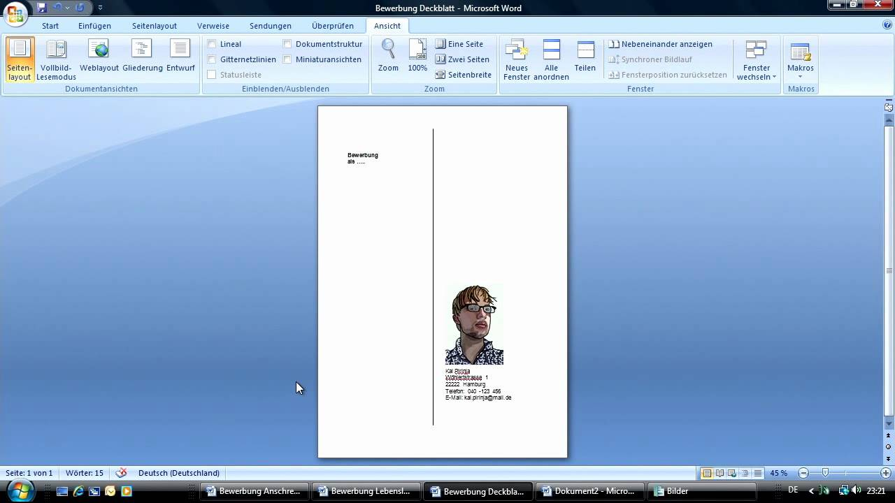 Richtig Bewerben Mit Office 2007