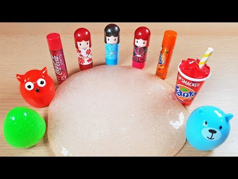 Mixing Lip Balm into Slime | Izabela Stress