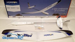 e flite umx whipit dlg rc glider bnf basic unboxing review and maiden flight