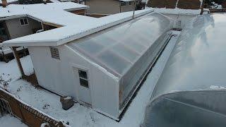URBAN FARM CHRISTMAS - Passive Solar Greenhouse 1 year review