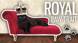 I Took a Royal Paw-trait of My Cat