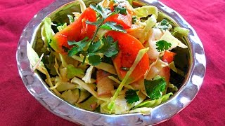 Onion & Cabbage Salad Recipe-indian Gujarati Cooking-every Day Special Episode-23