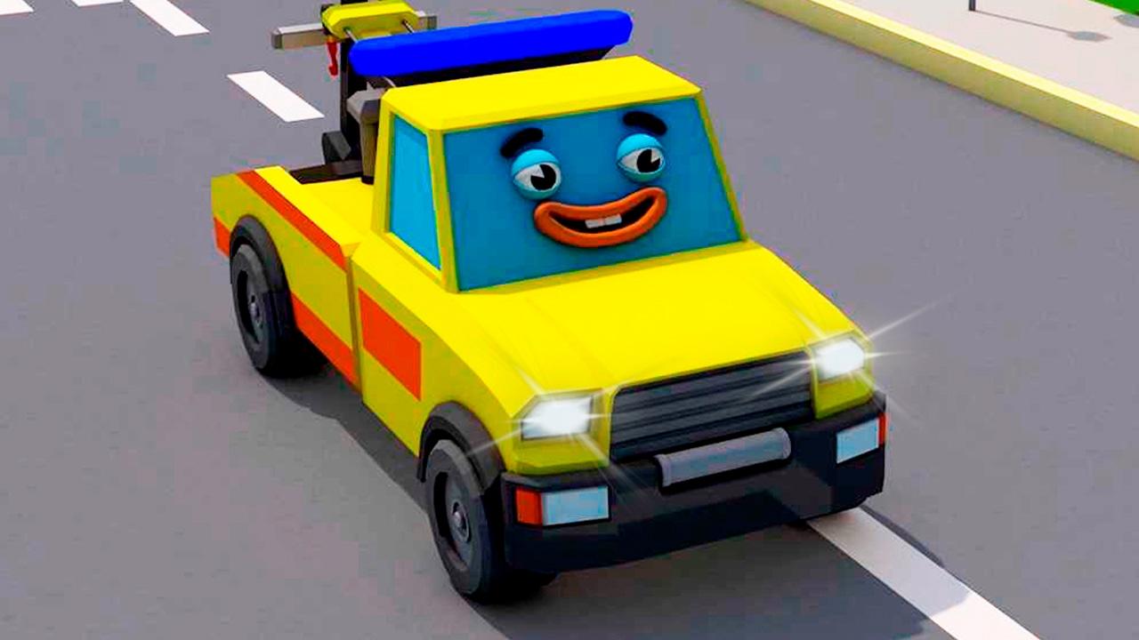 La Dépanneuse et La Voiture de police Les aventures | Dessin animé pour enfants
