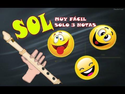 La canción más divertida para flauta dulce. Muy fácil (solo 3 notas), tutorial con animación.