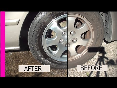 Fast Easy Great way How to clean and polish Restore your Aluminum Rims in 1 step