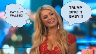 Paris Hilton Says I VOTED TRUMP on the project TV show LOLOL