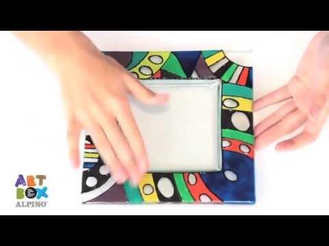 Peinture sur verre vitrail kit artbox alpino youtube for Peinture sur verre