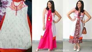 Reuse Old kurti and convert it into jacket kurti | Styling options | Indian ethnic wear
